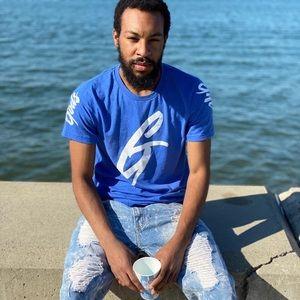Blue and white gods gift shirt